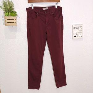 Madewell Burgundy Skinny Skinny pant size 31